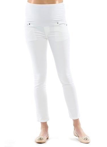Motherway Maternity Hamile Pantolon Beyaz
